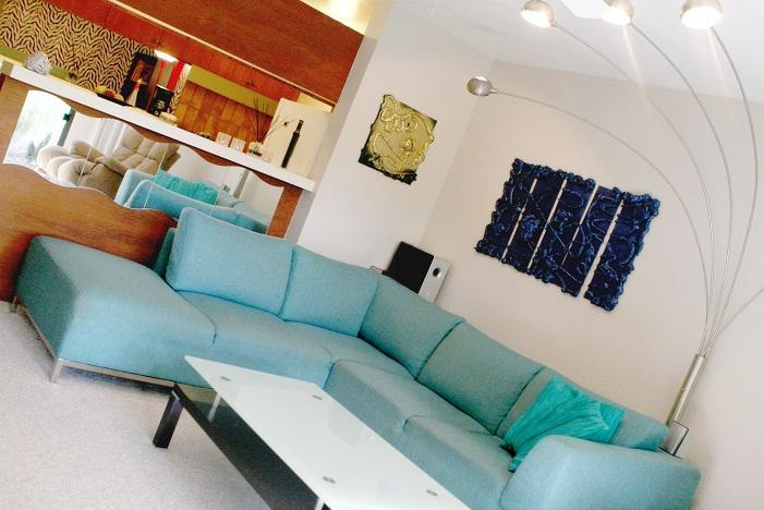 Natuzzi couch (Italian) - SPECTACULAR VILLA in Amazing Poipu Location - Poipu - rentals