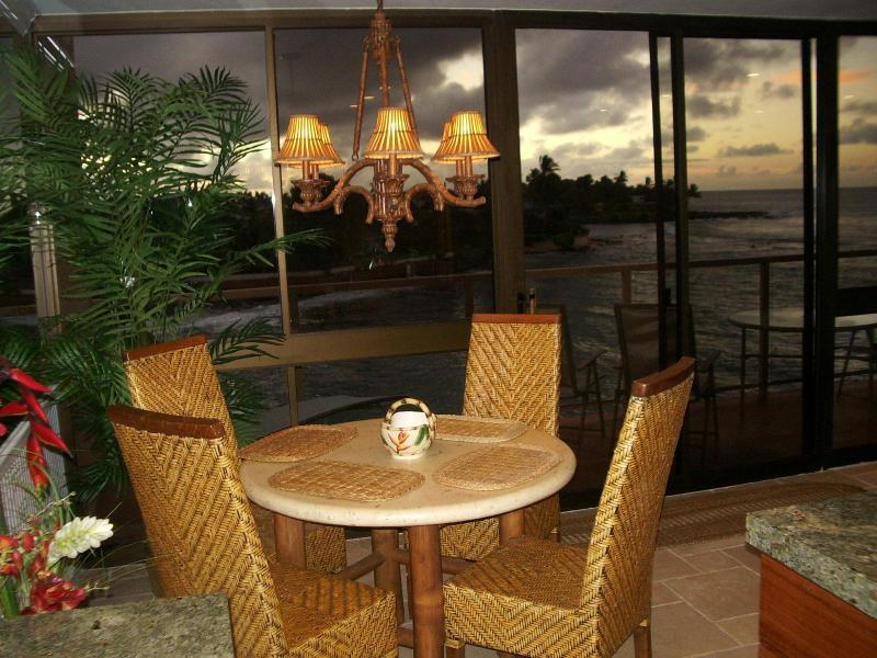 Beautiful Sunrise views - LUXURIOUS OCEAN FRONT PENTHOUSE 407 @ Kuhio Shores - Poipu - rentals