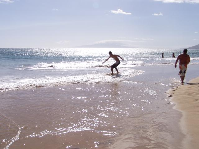 Disc boarder - fun, lotsof crashes...sand is pretty smooth - Penthouse Ocean View Living - Kihei - rentals