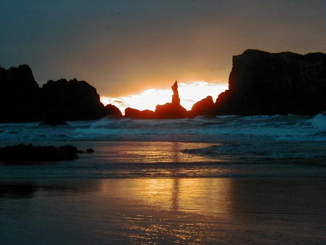 Coquille Point Winter Sunset - Seaview Townhouse at Coquille Point  Condos - Bandon - rentals