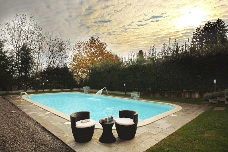 The pool as viewed in late November - Cadennabia Griante Residence (top floor home) - Como - rentals