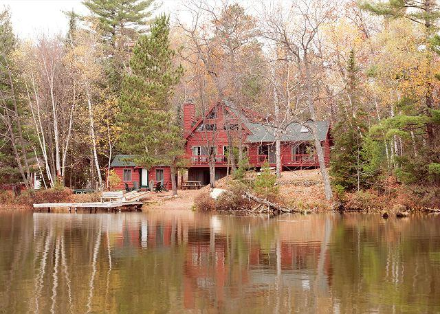 Eastern Exposure of the Home - The Loon Bay Escape Private Vacation Rental Home - Eagle River - rentals