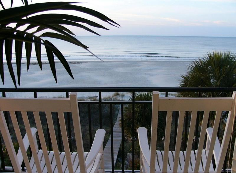 Magnificent oceanview from greatroom balcony - The Sandbar/free tennis,fully renovated&painted'16 - Hilton Head - rentals