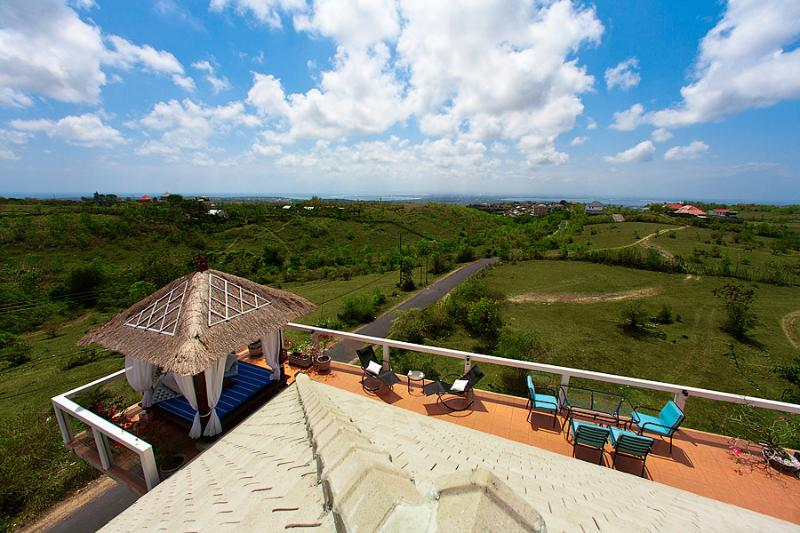 Enjoy the views from the roof-top Sky Lounge terrace of the Sky House. - Modern design Villa Sky House.Stunning view! - Jimbaran - rentals
