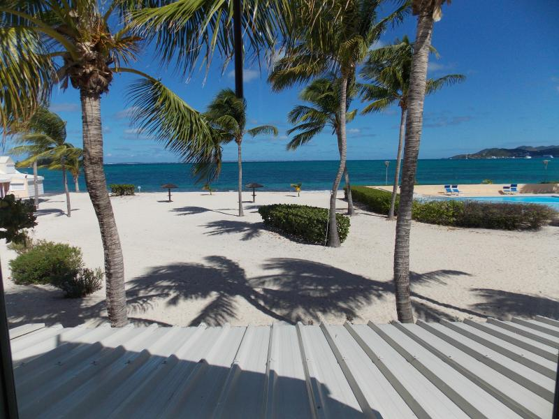 View from the 2nd floor - 2 bedroom on French Beach in Gated Community - Baie Nettle - rentals