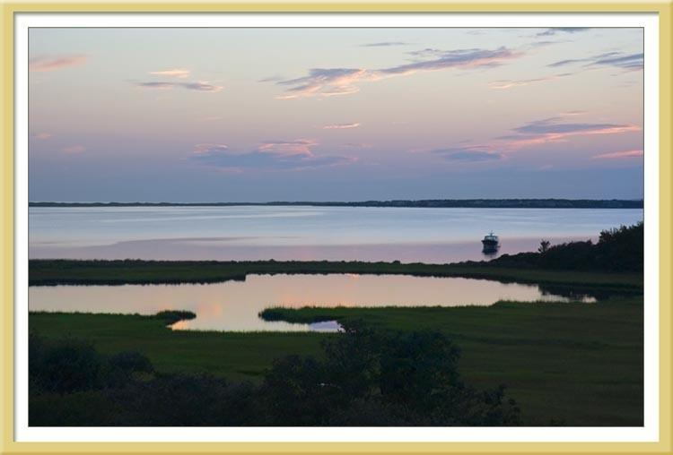 View from our deck at 68 Bayview---Chappy - Marthas Vineyard-Spectac Chappy Oceanvu Private Hm - Edgartown - rentals