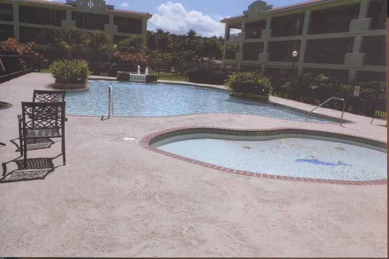 continental pool 001 - beachfront Puerto Rico condo,  private complex - Rio Grande - rentals