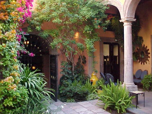 """Main Courtyard - """"There's Nothing Like the Real Thing . . . """" - San Miguel de Allende - rentals"""
