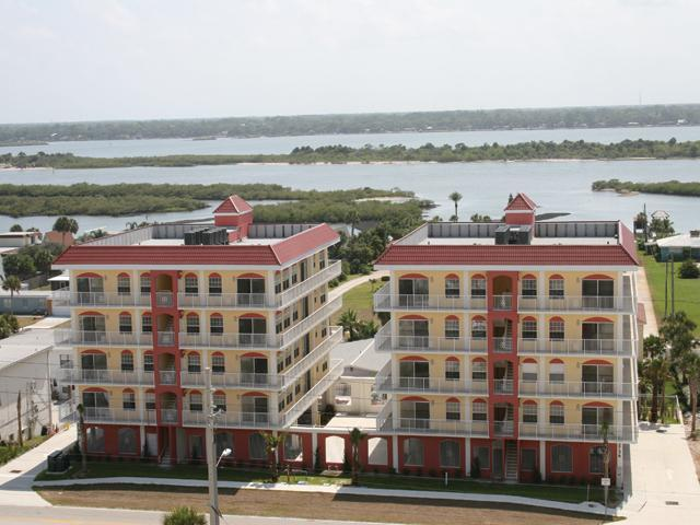 Mediterranean Style Building - Stunning water views from wrap-around balcony - Daytona Beach - rentals