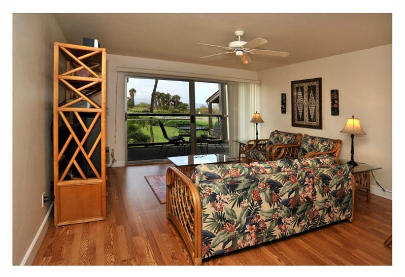 View from entry through to lanai and beyond - Hale Kamaole Ocean View Condo with King Bed & WiFi - Kihei - rentals