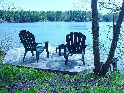 Hexigonal Shore Deck - All Season Lake House - Hillsborough - rentals