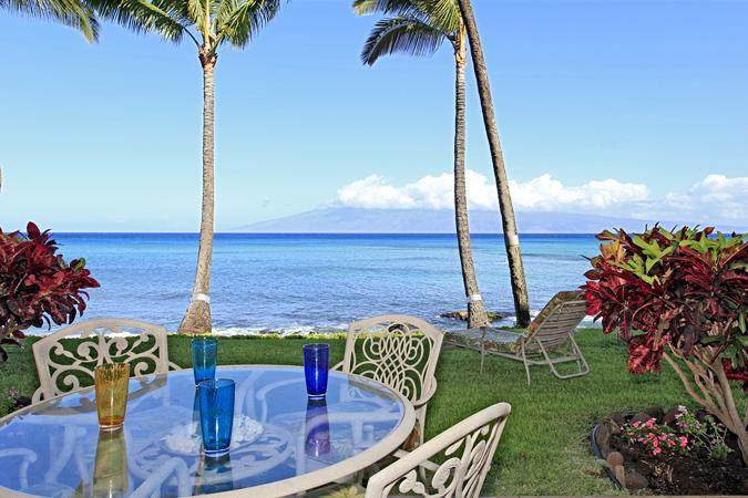 Enjoy Breakfast on Your Private Lanai - Romantic Oceanfront 1BDRM-New Remodel-Noelani 108 - Lahaina - rentals