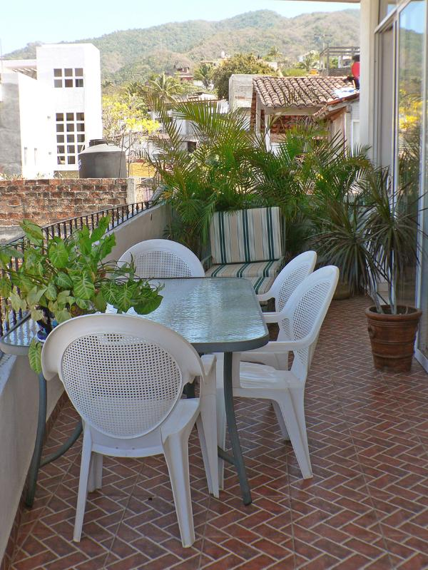 Terrace off main BedRm and Living Room - Bright & Spacious 2-Bdrm Puerto Vallarta condo - Puerto Vallarta - rentals