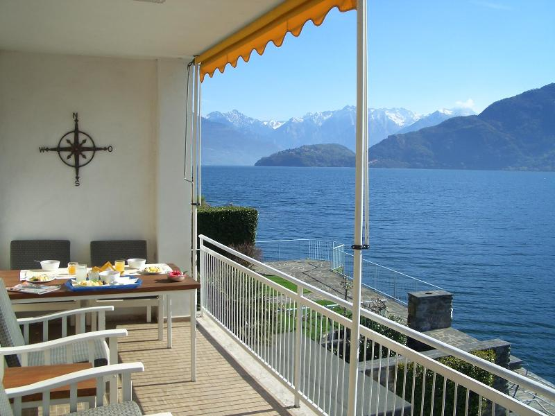 Enjoy Lake & Alpine Views from the Top Terrace - A True Lakefront Property Surrounded by Gardens - Cremia - rentals