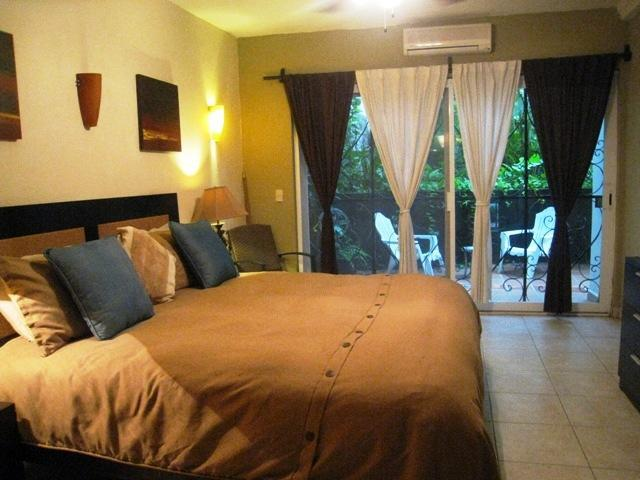 Master bedroom with walk out garden in back. - Luxury 2 bedroom in Zona Romantica (old town)! - Puerto Vallarta - rentals