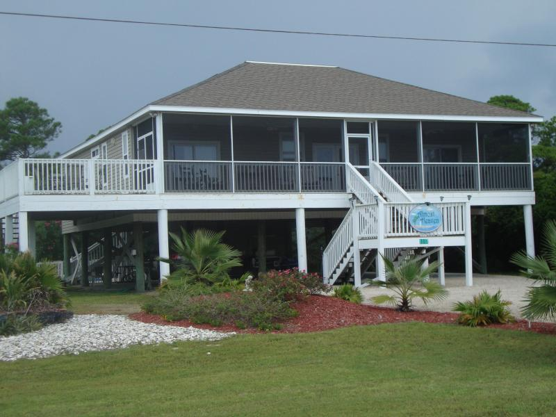 front of the house, nice grass yard - 25% discounts in Aug-Sept-specials for goverment - Saint George Island - rentals