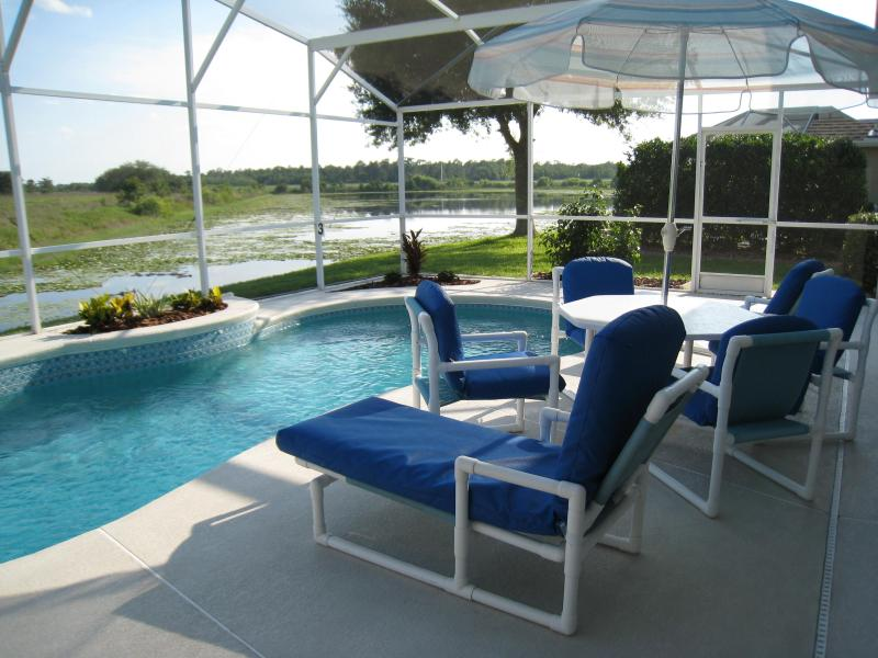 Pool area overlooking a lake - Executive home on a lake 5 minutes from Disney. - Kissimmee - rentals