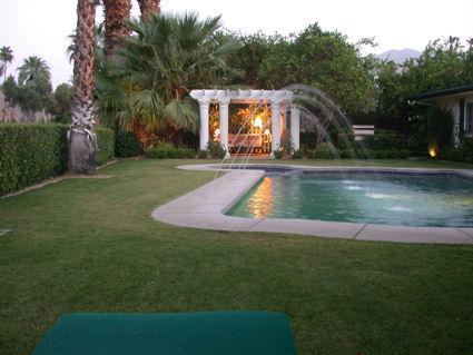 Pergola and pool - Complete with Fountains! - Canyon Country Club Classic Home in Palm Springs - Palm Springs - rentals