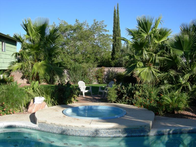 The backyard is lush and very tropical feeling - very secluded while swimming or skinny dipping !!! - Vegas Oasis - Your personal Oasis in Las Vegas ! - Las Vegas - rentals