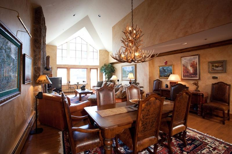 Fabulous Living and Dining Room - 4/4 Ski-in/Ski-Out! On Ice Rink! 5 Star Lux Living - Beaver Creek - rentals