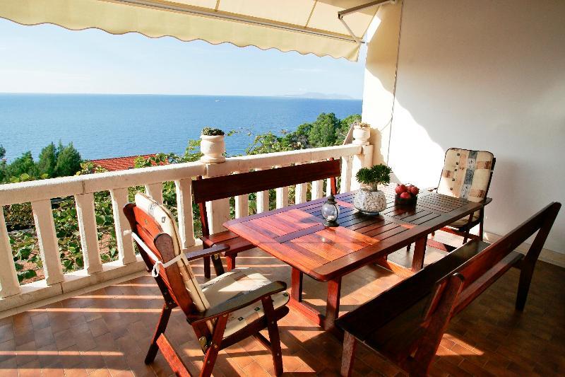 The Bougainvillea terrace-south - Villa Perka-tranquil spot in beautiful setting - Sveta Nedelja - rentals