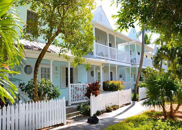 """Front of Unit From the Neighborhood - """"LAZY LANE"""" - WEEKLY OR MONTHLY(Truman Annex) - Color and Style Front to Back - Key West - rentals"""