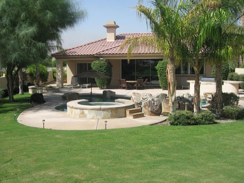 Backyard - Private PGA West Golf Home on Weiskopf 8th Green! - La Quinta - rentals