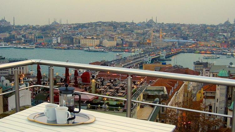 fabulous views from shared roof-top terrace - spacious characterful, fabulous views from terrace - Istanbul - rentals
