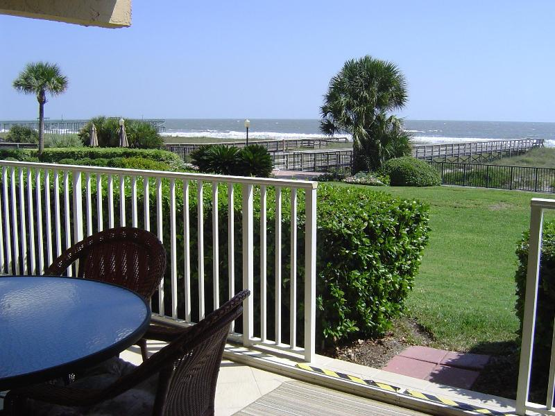 Enjoy Atlantic from your own private covered patio - Atlantis on Amelia First Floor Oceanfront Condo - Fernandina Beach - rentals