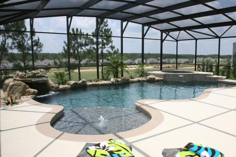 Large Pool And Extended Sunny Deck With Ample Pool Furniture - Cloud Nine Villa - Davenport - rentals