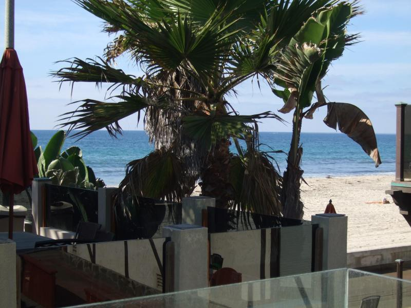 second floor balcony views - Almost Waterfront Beach house 20 feet to sand/surf - Pacific Beach - rentals