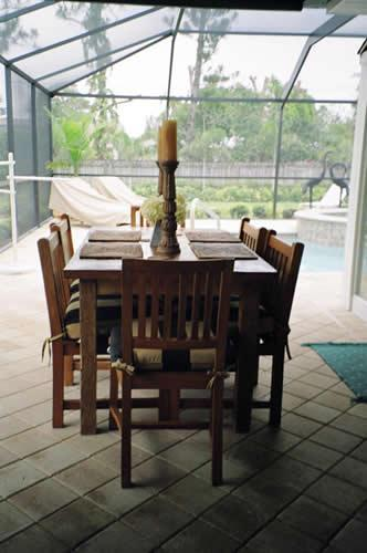 Patio Dining Area - Palmview- 3br/3ba Pool/spa home near the beach - Naples - rentals