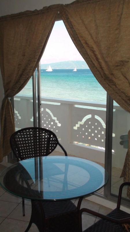 Dining kitchen living view - Beach Front 1 bedroom   Resort Condominium - Puerto Galera - rentals