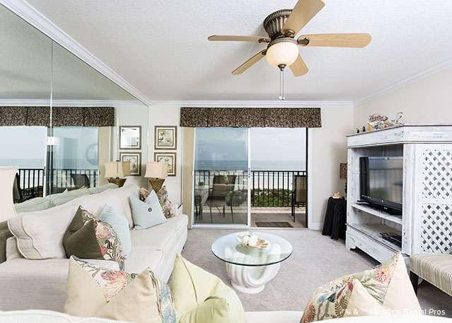 Enjoy ocean views and our HDTV! - Windjammer 214 Beach Front, Elevator St Augustine Beach - Saint Augustine - rentals