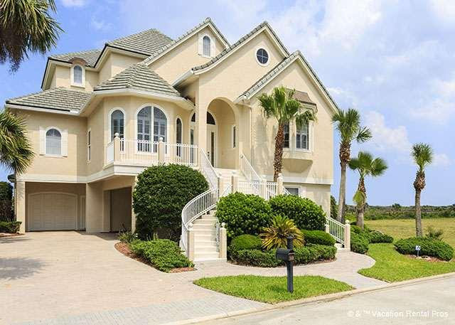 Welcome to this luxury oceanfront vacation home! - Heaven on Earth Mansion, 7 Bedrooms, Beach Front, Elevator, Pool - Palm Coast - rentals