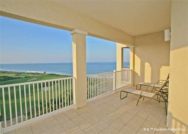 Prop your feet up and unwind on the amazing balcony! - 461 Cinnamon Beach, 6th Floor Penthouse condo sleeps up to 11 - Palm Coast - rentals