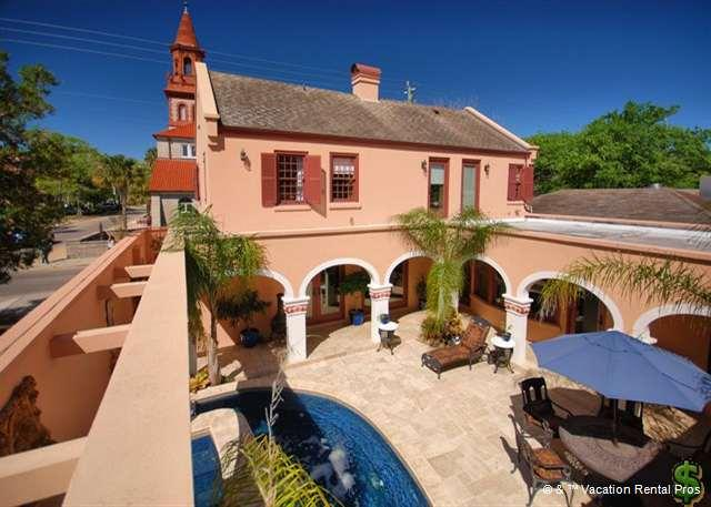 Enjoy our Spanish-style mansion with courtyard and pool - Cordova Mansion with Heated Pool in Historic St Augustine - Saint Augustine - rentals