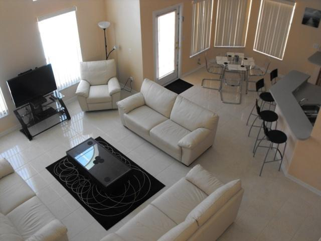 Living room from upstairs - 4 bedroom villa with pool and games room and wifi - Davenport - rentals