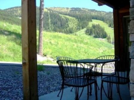 Summer view from Patio w/BBQ!  Walk to Ski Lifts & Mountain Activities! - Luxury Ski-in Condo!  Views/HotTub...$195/nt Ski! - Whitefish - rentals