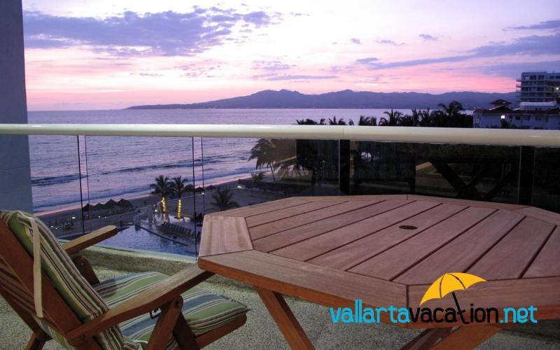 View of Northern Half of the Bay of Banderas from Balcony - Dreams Villa Magna - Oceanfront Condo - Nuevo Vallarta - rentals