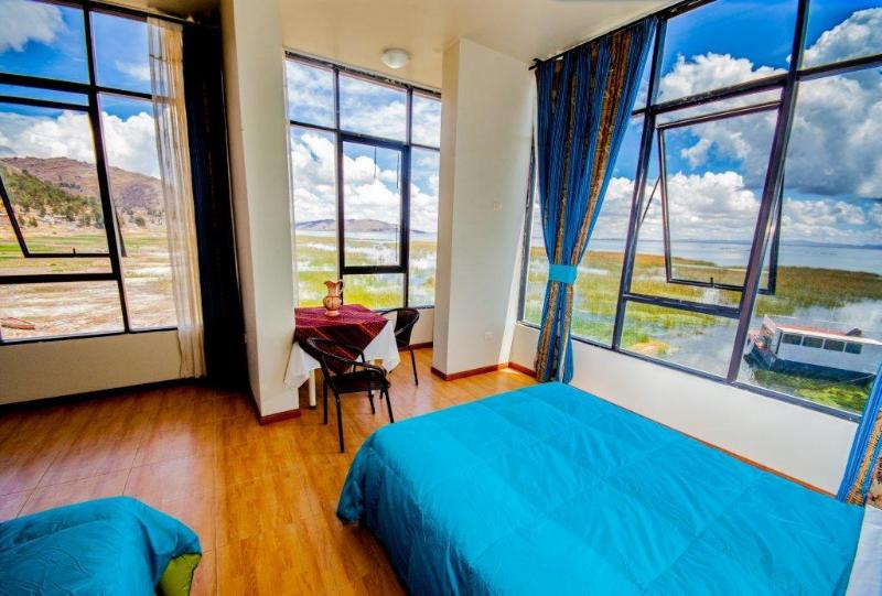 Bedroom with a gorgeous view of the Lake Titicaca - Amazing views to the Tititcaca Lake - Puno - Peru - Puno - rentals