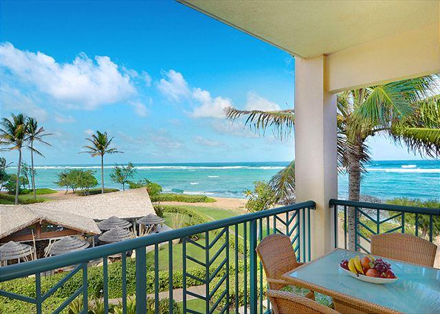 OCEAN Bliss** H302 is ONE of THE BEST BEACH view suits at Waipouli - Image 1 - Kapaa - rentals