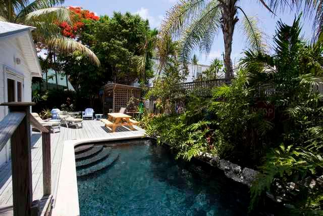 Tropical Yard - The Meadows House - Key West - rentals