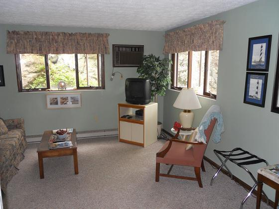 bright , everything needed included, walk out door to garden and grill area - Ogunquit Condo! - Ogunquit - rentals