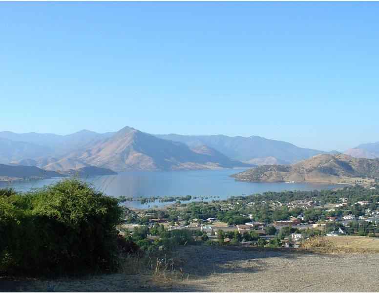 View of Lake Isabella from Living Room - Dynamite Lakeview at Kern River Retreat - Wofford Heights - rentals