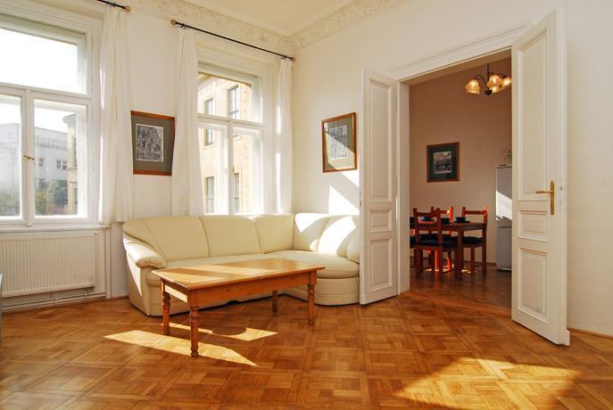 Living room, view 1 - Prague-1BR-Super Classy-Best Location-Historic Ctr - Prague - rentals