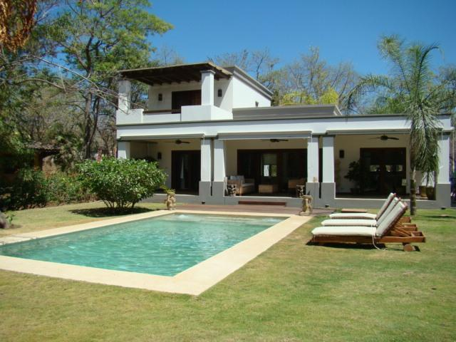Private pool with jacuzzi and large patio - Modern minimalist home w/pool at Langosta Beach - Tamarindo - rentals