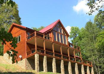 "Red Top Retreat Over looking lake, mountains and Cherokee National Forest. - Click ""book"" for quote/reserve Red Top Retreat - Butler - rentals"