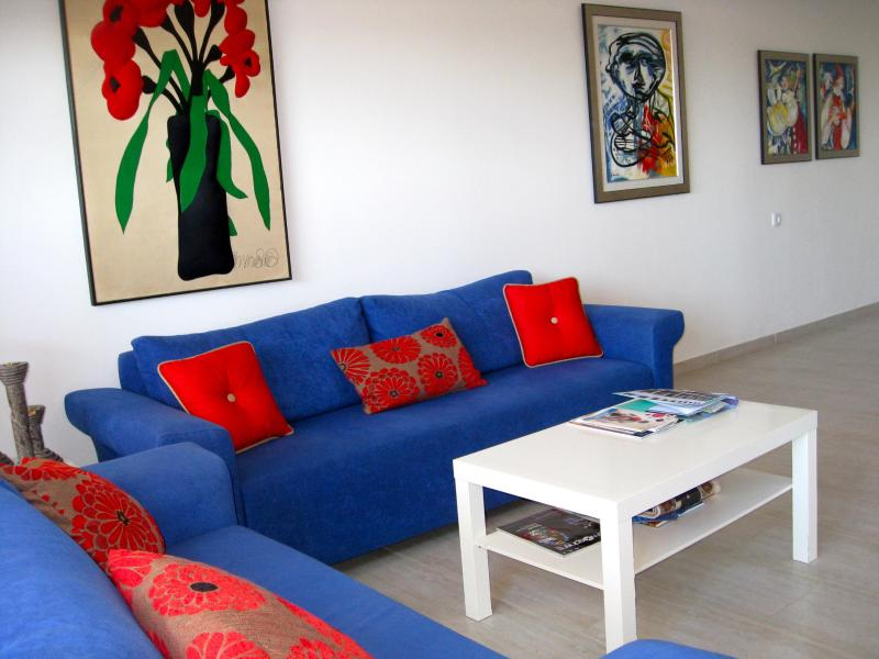 Living room - Poleg Beachfront Holiday Rental, NETANYA, ISRAEL - Netanya - rentals
