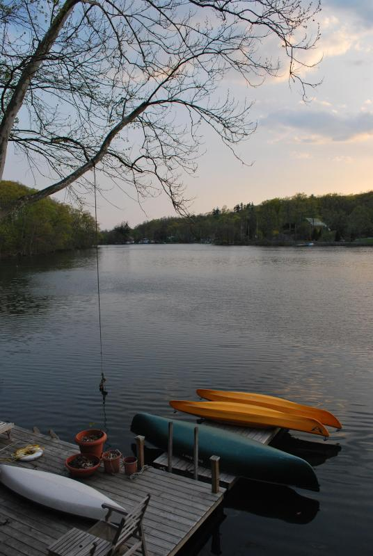 View of lake from cottage - Private Lake Front Cottage with dock, Kayak, canoe - Red Hook - rentals